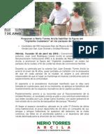 18-04-2015 Proponen a Nerio Torres Arcila habilitar la figura del _Vigilante ciudadano_ en los parques de Mérida
