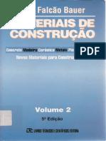 Materiais de Construção - Volume 2 - Bauer - 5ª Edição