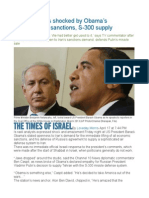 Israel Analysts Shocked by Obama's Comments on Sanctions, S-300 Supply