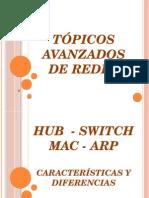 HUB_Switch y MAC y ARP - Caracteristicas y Diferencias