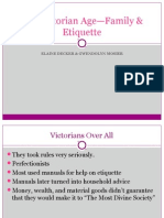 the victorian age- family & etiquette 4