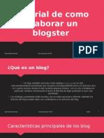 Tutorial de Como Elaborar Un Blogster