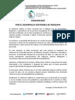 Comunicado-por El Desarrollo Sostenible de Arequipa