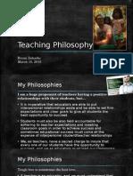 teaching pilosophies