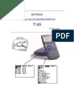 Matrices Con Calculadora Grafica