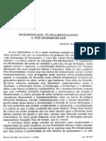 PEREIRA, Miguel Baptista - Modernidade, Fundamentalismo e Pós-modernidade.