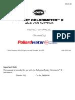 Hach 5870000 Colorimeter Manual Dmb