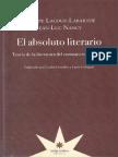 Nancy & Labarthe - El Absoluto Literario. Teoria de la literatura del romanticismo aleman.pdf
