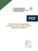 Efectos de Las Temperaturas Extremas en El Organismo Humano