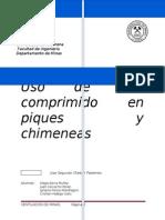 Uso de Aire Comprimido en Piques y Chimeneas