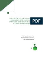 SIMULACIÓN DE LA ACTIVIDAD DEL COLORANTE EN EL PROCESO DE CAPTACIÓN DE ENERGÍA EN CELDAS SOLARES SENSIBILIZADAS