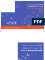 Guía de psicomotricidad y educación física en la educación secundaria