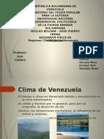 Clima de Venezuela Exposicion