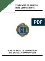 Boletín Anual de Estadísticas Del Sistema Financiero 2014