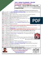Calendar 2015 - 2nd Month Vesaakh - Vaisaakh