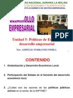 Politicas de estado en el desarrollo empresarial
