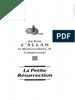 La Foi Islamique 5 - La Petite Resurrection Et Les Signes Avant-coureurs de La Grande Résurrection - Omar Al-Achqar