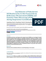 Crystallization Behavior of Palm Kernel Oil