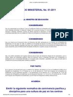 Infile - Acuerdo Ministerial 01-2011