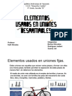 Elementos Usados enhhf Uniones Fijas