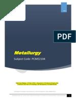 Metallurgy E-matl., Lecture Note