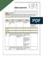 Sample HAZOP Study Worksheet (P&ID 100-002)