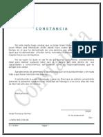 Ejemplo de Constancia
