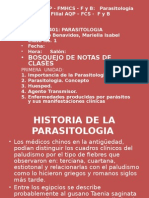 1ra Clase Importancia Parasitologia