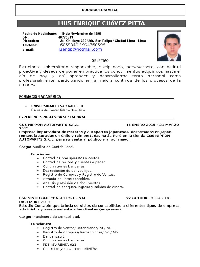 Dorable Asistente De Contabilidad Reanudar Muestra Cresta ...