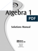 Algebra I_Solutions Manual