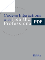 code on interactions with healthcare professionals