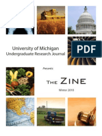 The Zine Winter 2010 by the University of Michigan Undergraduate Research Journal