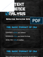 context evidence analysis