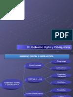 III. Gobierno Digital y Ciberjusticia.
