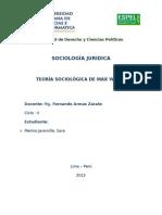 Teoría Sociológica de Max Weber.docx
