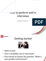 How to Perform Well in Interviews
