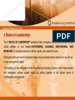 4 roles of leadership