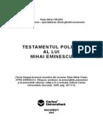 Testament Politic Eminescu