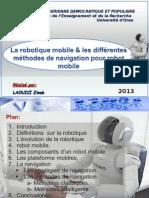La robotique mobile et les différentes méthodes de navigation pour robot mobile