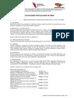 Especificaciones Particulares Calcahualco 2a. ETAPA