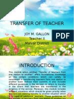 Transfer of Teacher Presentation