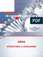 Genetica MD - Curs 7 Noiembrie 2013