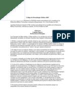 Codigo de Deontologia Medica 2003