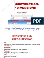 Ship construction Ship dimensions