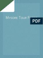 Mysore Tour Fotos