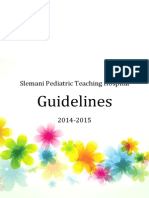 Slemani Pediatric Teaching Hospital Guidelines