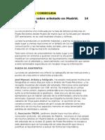 Acta reunión sobre arbolado en Madrid