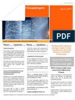 Israel Society of Investment Professionals (ISIP) April 2015 Newsletter