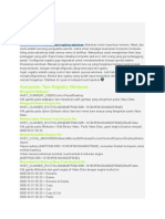 Modifikasi Registry Windows