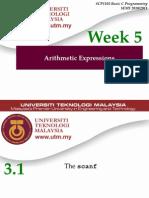Week 05Arithmetic C